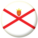 Jersey Island Flag 58mm Mirror Keyring